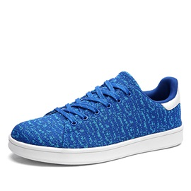 Breathable Mesh Lace-Up Skater Shoes