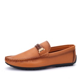 Retro PU Slip-On Casual Shoes for Men