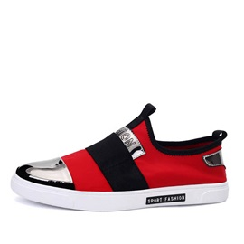 Contrast Color Slip-On Skater Shoes