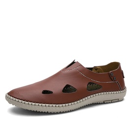 PU Hollow Slip-On Loafers for Men