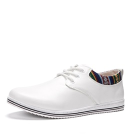 PU Ethnic Lace-Up Casual Shoes for Men
