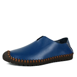 PU Thread Round Toe Casual Shoes for Men