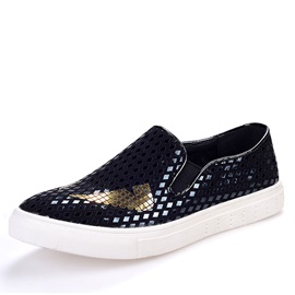 Sequins Round Toe Loafers