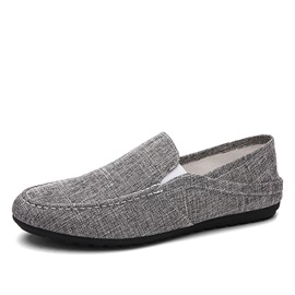 Linen Round Toe Driving Shoes