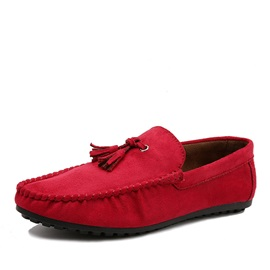 Suede Tassels Slip-On Loafers