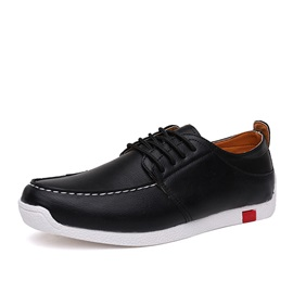 British PU Thread Lace-Up Casual Shoes for Men