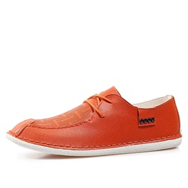 Breathable PU Low-Cut Casual Shoes