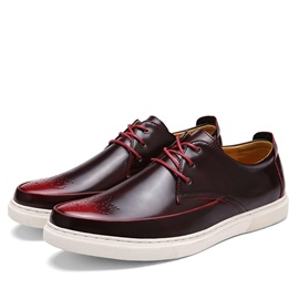 British Style PU Lace-Up Skater Shoes