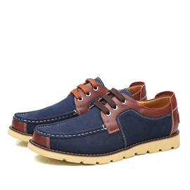 PU Patchwork Thread Men's Casual Shoes