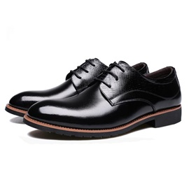 Embossed PU Lace-Up Men's Dress Shoes