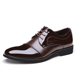 Elegant Round Toe Lace-Up Dress Shoes