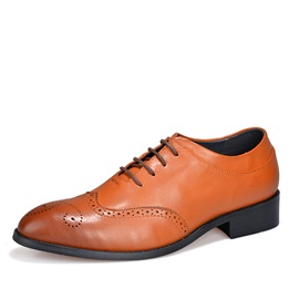 British Round Toe Square Heel Brogues