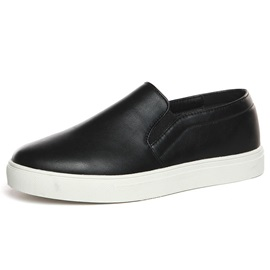 Black PU Men's Loafers