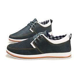Canvas Lace-Up Men's Shoes