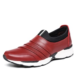 Ruched PU Slip-On Casual Shoes