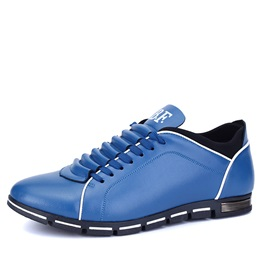 Cozy PU Lace-Up Men's Casual Shoes