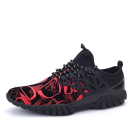 British Style Round Toe Lace-Up Sneakers