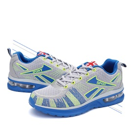 Breathable Mesh Lace-Up Sport Shoes with Air Cushion