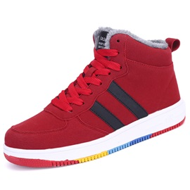 PU Color Block Round Toe Sneakers for Men
