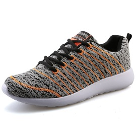 Breathable Stripe Lace-Up Sneakers for Men