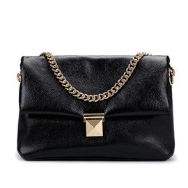 Hasp Decorated Pure Color Women's Chain Bag