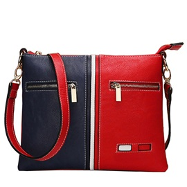 Stylish Color Block Crossbody Bag