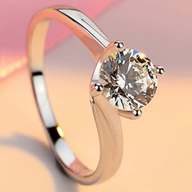Elegant Round Cut Zircon All Matching Ring