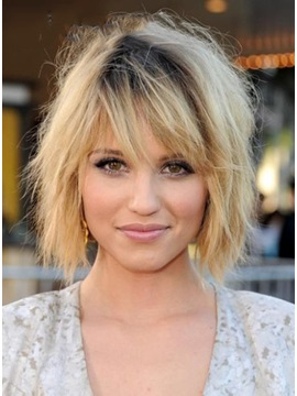 Special Chic Smart Choppy Short Straight Wig about 8 Inches