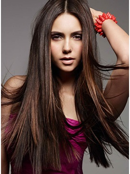 Custom Top Quality Long Straight 100% Remy Human Hair Full Lace Wig about 24 Inches
