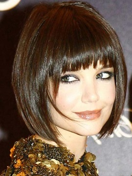 Classic Celebrity Short Bob Hairstyle Capless Synthetic Wig