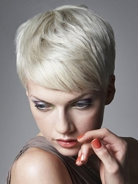 Chic Short Straight Synthetic Hair Capless Wig 4 Inches