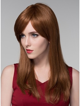 Mishair® Elegant Long Straight Human Hair Wigs 24 Inches