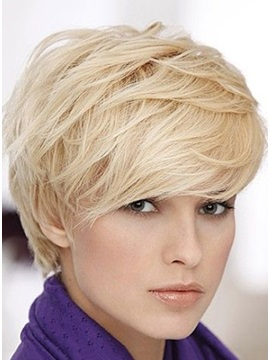 Custom 100% Human Hair Short Hairstyle Natural Layered Wig 6 Inches