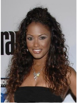 African American Hairstyle 100% Remy Human Hair Curly Lace Wig about 20 Inches
