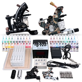 Professional High Quality Tatto Machine Power-saving Power Supply Ink- Tattoo Kit