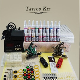 High Performance Tattoo Kit with 2 Tattoo Machines and Refine Power Supply