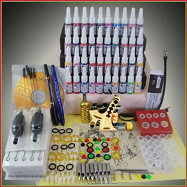 Tattoo Kit with 1 Tattoo Machines & 40 Inks for Tattoo Beginners
