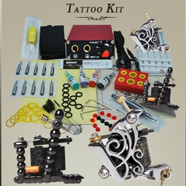 Complete Tattoo Kit 2 Machines Power Set Equipment D159