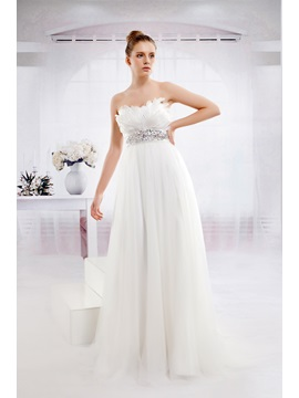 Fabulous Empire Sweetheart Floor-Length Tulle Anita's Wedding Dress