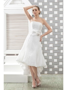 Bright Empire Strapless Asmmetry Sash Anita's Wedding Dress
