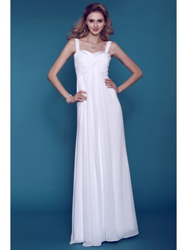 Airy Empire Dasha's Sheath/Column Sweetheart Straps Beach Wedding Dress