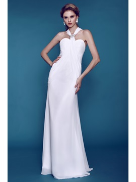 Plain Column/Sheath Beaded Dasha's Beach Wedding Dress