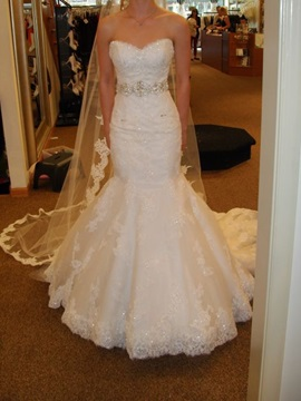 Beautiful Sweetheart Appliques Mermaid Wedding Dress
