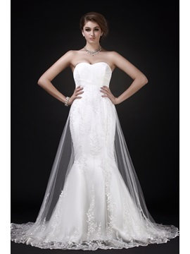 Charming Mermaid/Trumpet Sweetheart Chapel-Length Roxy's Wedding Dress