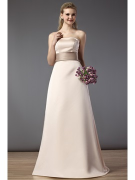 Gorgeous A-Line/Princess Strapless Floor-Length Bridesmaid Dress