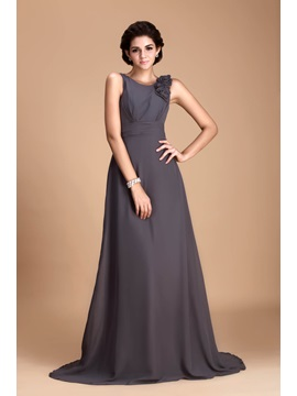 Pretty Flowers Sheath/Column V-Neck Floor-length Juliana's Bridesmaid Dress