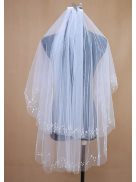 Outstanding Two Layer Elbow Wedding Bridal Veil