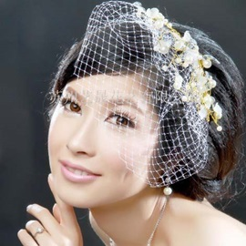 Pearl With Net Lady's Headflower Bride Hairflower