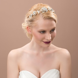 Exquisite Floral Rhinestone Alloy Bridal Headband