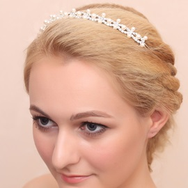 Pearl and Alloy Wedding Headband